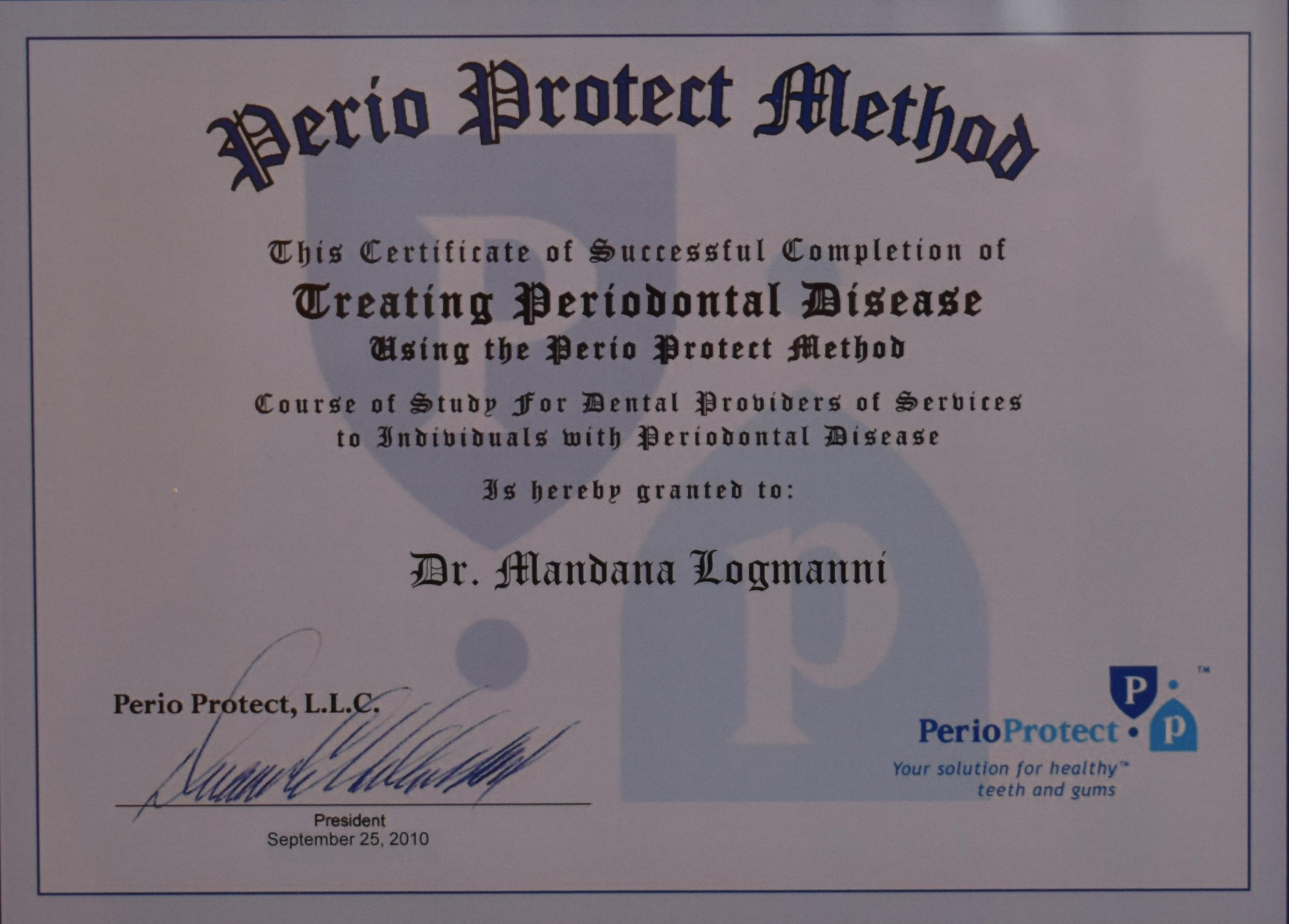 Perio Protect Methos