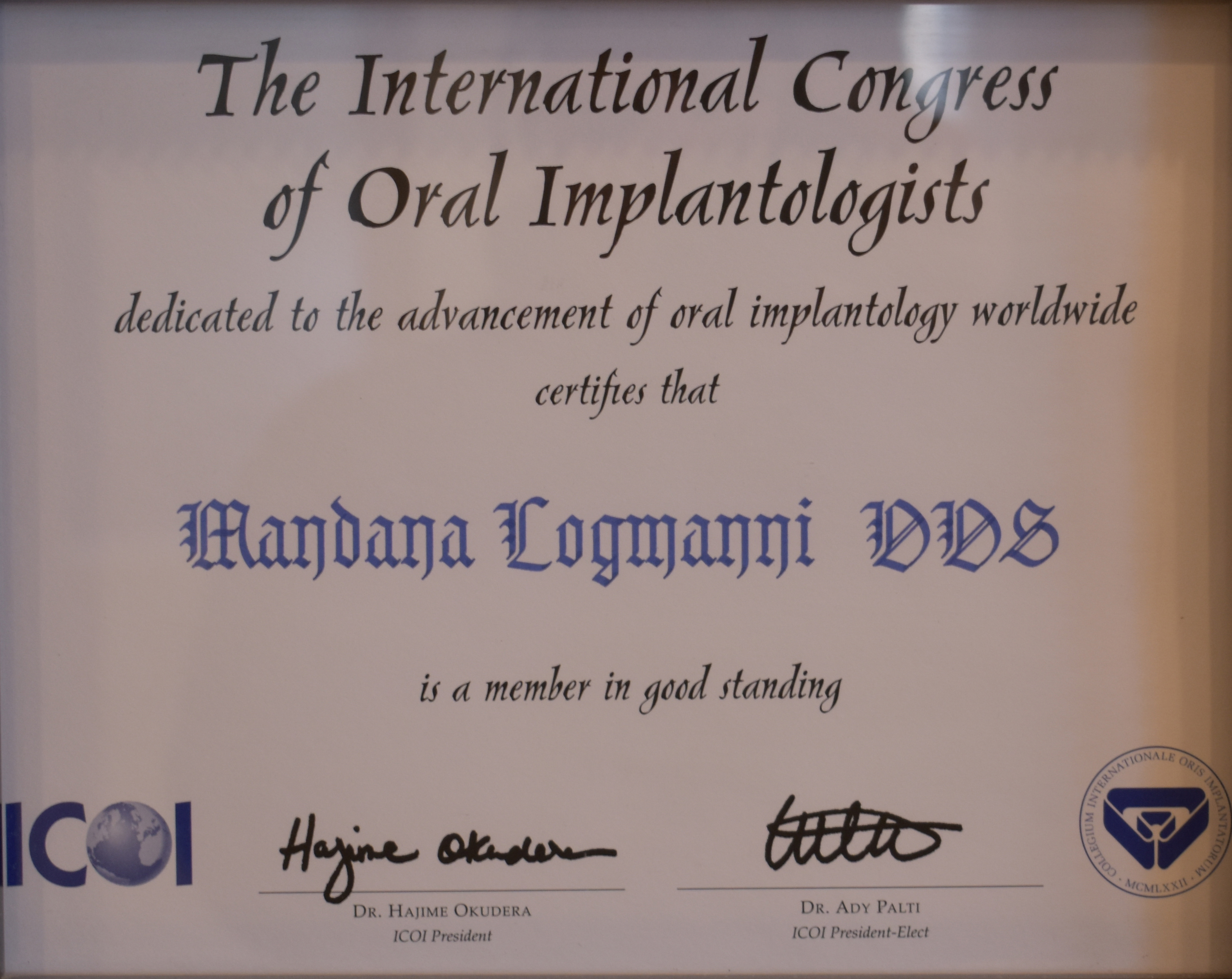 The International Congress Of Oral Impantologist