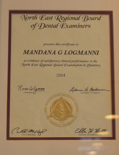 Noth East Regional Board of Dental Examiers